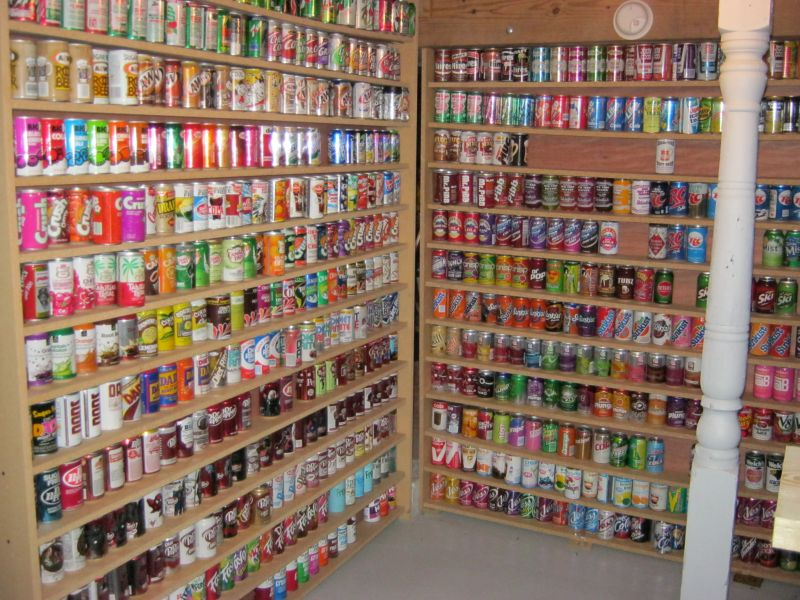 Soda Can Collection Home